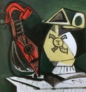 Композиция с мандолиной, 1959 - Пикассо, Пабло