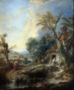 Пейзаж с отшельником - Буше, Франсуа