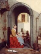 Девушка с прялкой - Хейлидженс, Антон Франсуа