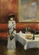 В ресторане, 1885 -  Форен, Жан-Луи
