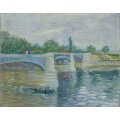 Сена и мост на Гранд Жатт (The Seine with the Pont de la Grande Jette), 1887 - Гог, Винсент ван