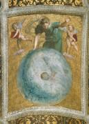 Станца делла Сеньятура: Роспись потолка (фрагмент) - Астрономия - Рафаэль, Санти