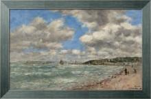Берег в Довиле, 1896 - Будэн, Эжен