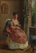 Девушка, 1865-70 - Гонсалес, Ева