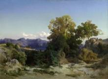 Пейзаж в Альбанских горах - Бёклин, Арнольд