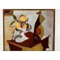 Натюрморт с лимоном и апельсинами - Пикассо, Пабло