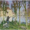 Прачка, развешивающая белье (Laundress Hanging Washing) - Монтезен, Пьер-Эжен