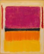 Фиолетовый, черный и оранжевый на белом и красном - Ротко, Марк