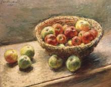 Тарелка с яблоками - Моне, Клод