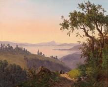 Итальянский пейзаж с руинами замка - Эндер, Томас