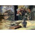 Ваза с цветами в окне, 1881 - Гоген, Поль