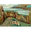 Осенний пейзаж с коровами на пастбище - Дикс, Отто