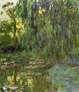 Плакучая ива у пруда с кувшинками - Моне, Клод