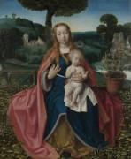Мадонна с Младенцем на фоне пейзажа - Провост, Ян