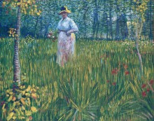 Женщина в саду (Woman in the Garden), 1887 - Гог, Винсент ван