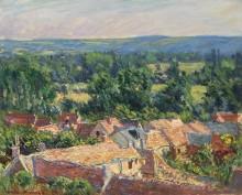 Пейзаж с видом на Живерни - Моне, Клод