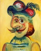 человек с усами, 1971 - Пикассо, Пабло
