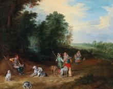 Пейзаж с охотниками - Брейгель, Ян (младший)