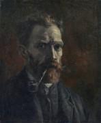 Автопортрет с трубкой (Self Portrait with Pipe), 1886 - Гог, Винсент ван