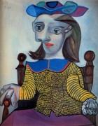 Желтый свитер, Дора Маар, 1939 - Пикассо, Пабло