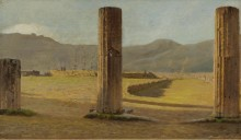 Вид из Помпеи, 1873 - Ниттис, Джузеппе Де