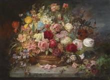 Букет цветов в медной вазе - Зацка, Ханс