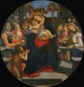 Мадонна с Младенцем, Иоанном Крестителем и ангелами - Боттичелли, Сандро