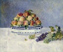 Натюрморт с персиками и виноградом - Ренуар, Пьер Огюст