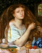 Причесывающаяся женщина - Россетти, Данте Габриэль
