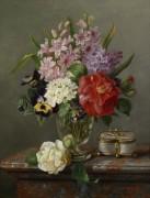 Весенние цветы в вазе. - Люсту, Мари
