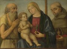 Мадонна с младенцем и святыми - Маццола, Филиппо