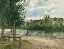 Берега реки Уаз в Понтуаз, 1868-70 - Писсарро, Камиль