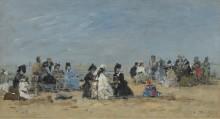 Трувиль, сцена на пляже, 1874 - Буден, Эжен