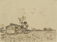 Поле с домами (Field with Houses), 1888 - Гог, Винсент ван