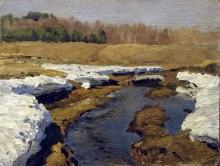 Весна. Последний снег. 1895 - Левитан, Исаак Ильич