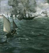 Сражение между кораблями «Кирсардж» и «Алабама» - Мане, Эдуард