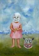 Девочка с маской смерти - Кало, Фрида
