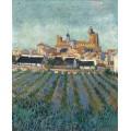 Вид Сан-Мари (View of Saintes-Maries), 1888 - Гог, Винсент ван