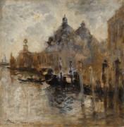 Вид на Салюте (View of Salute in Venice), 1908 - Мариани, Помпео