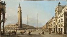 Вид на площадь Сан-Марко с юго-запада - Каналетто (Джованни Антонио Каналь)