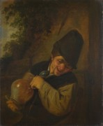 Крестьянин держащий кувшин и трубку - Остаде, Адриан ван
