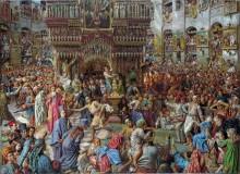 Чудо со святым огнем в Храме Гроба Господня, Иерусалим - Хант, Уильям Холман