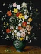 Цветы в голубой вазе - Брейгель, Ян (Старший)