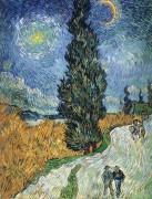Дорога с кипарисами и звездой (Road with Cypress and Star), 1890 - Гог, Винсент ван