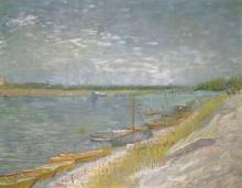 Вид на реку с вёсельными лодками - Гог, Винсент ван