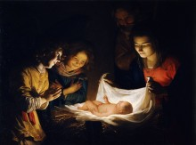 Поклонение Младенцу - Хонтхорст, Геррит ван