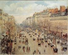 Бульвар Монмартр в Париже - Писсарро, Камиль