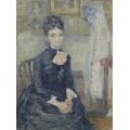 Женщина, сидящая у колыбели  (Portrait of Leonie Rose Charbuy-Davy), 1887 - Гог, Винсент ван