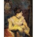 Метте Гоген в вечернем платье, 1884 - Гоген, Поль