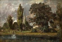 Вид на собор в Солсбери и Лиденхолл со стороны реки Эйвон - Констебль, Джон